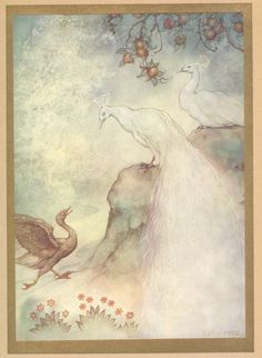 Anton Pieck - Stories from the Arabian Nights - The goose peacock and peahen