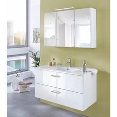 WELLTIME Waschplatz-Set »Trento«, Waschtisch, Breite 100 cm, 2tlg. online kaufen Double Vanity, Bathroom, Old Furniture, Vanity Basin, Asylum, Full Bath, Washroom, Bath, Bathrooms