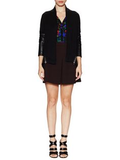 Open Front Zipper Cardigan from MILLY on Gilt