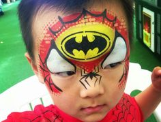 Face Painting For Boys, Spiderman, Batman, Face Paintings, Super Heros, Body, Facial, Characters, Projects