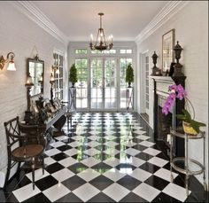 love the checker board floor