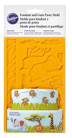 Wilton 409-2558 Fondant and Gum Paste Silicone Mold, Jungle Animals Wilton http://www.amazon.com/dp/B00IE6ZUY8/ref=cm_sw_r_pi_dp_xGJiub08BRPTF