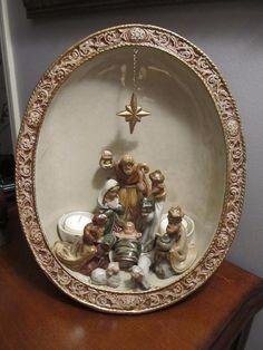 OOAK Beautiful Oval Ceramic Nativity** PERFECT CHRISTMAS GIFT!!*** PLEASE READ.. | eBay