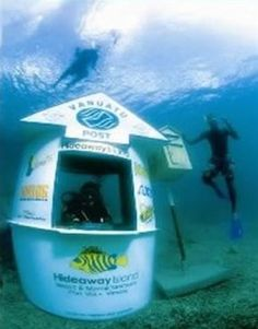 Vanuatu Post has created the world's only Underwater Post Office http://vilachaumieres.com/