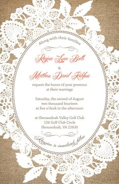 Custom Listing for ReginaKuhfuss  Burlap and by InvitingMoments, $153.00