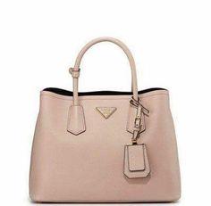 b2c07742ed6f Everyday Bag Saffiano Cuir Small Double Bag, Blush (Cammeo) by Prada at  Neiman Marcus.