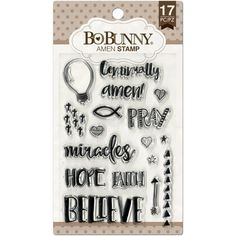 PREORDER BoBunny Amen 4x6 Clear Cling Stamp Sheet. Bible Journaling. Planner Stamps. Bible Stamps. by iArtisans on Etsy https://www.etsy.com/listing/267387876/preorder-bobunny-amen-4x6-clear-cling