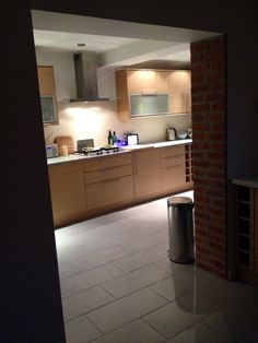 Our new kitchen, Howdens glass worktops