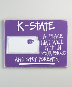 Another great find on #zulily! Kansas State Wildcats Map Wall Sign #zulilyfinds