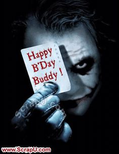 Picture outcome for darkish knight pleased birthday gif Happy Birthday Qoutes, Birthday Wishes Gif, Happy Birthday Images, Happy Birthday Cards, Heath Ledger Joker Quotes, Best Joker Quotes, Badass Quotes, Joker Heath, Joker Images