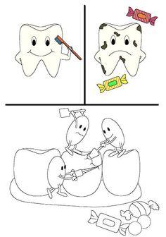 Nos cuidamos - - Picasa Web Albums Health Activities, Activities For Kids, Dental Health, Dental Care, Dental Kids, Dental Humor, Bilingual Education, Health Education, Healthy Kids