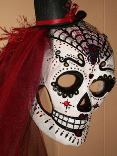 Couples Dia de Los Muertos Masks Custom Made by MADTattooedLadies, $165.00