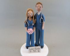 Customized Doctor Wedding Cake Topper by mudcards on Etsy