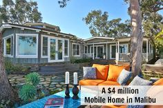 i would actually live in this  mobile home park  if I had this house  its amazing  4 million dollar mobile home Paradise Cove Malibu