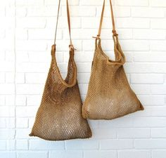 """New Cheap Bags. The location where building and construction meets style, beaded crochet is the act of using beads to decorate crocheted products. """"Crochet"""" is derived fro Mochila Crochet, Crochet Bags, Fashion Bags, Fashion Accessories, Women Accessories, My Bags, Purses And Bags, Net Bag, String Bag"""