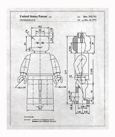 Gray Lego Toy Figure 1979 Art Print