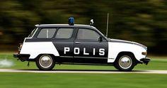 SAAB policecar.