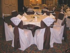 53b04d20f 100 BRAND NEW Polyester Banquet Chair Covers ~Wedding~