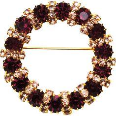 Light Amethyst, Purple Amethyst, Beaded Jewelry, Jewellery, Ruby Lane, Deep Purple, Artisan Jewelry, Brooch Pin, Vintage Antiques