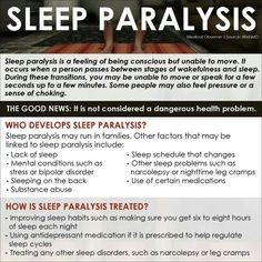Sleep Paralysis-I experience this every so often and I just learned from my Psychology professor that it does no harm. Just want to spread the word in case others that suffer from it don't know what it is.