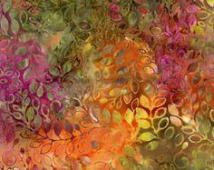 "Batik By-The-Yard; Samba; Batik yardage; Cotton fabric yardage; 44"" wide; Batik Fabric by Timeless Treasures (B2053-SAMBA)"