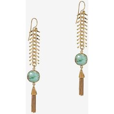 GAS Bijoux Long Disc Drop Earrings ($238) ❤ liked on Polyvore featuring jewelry, earrings, gas bijoux, disc earrings, tassel earrings, long tassel earrings and tassle earrings
