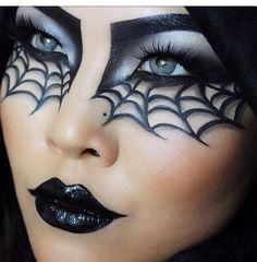 Make-up tips for Carnival: Here come the most creative looks - Halloween Make up, Schminke und Kostüme - Makeup Halloween Eye Makeup, Halloween Eyes, Halloween Makeup Looks, Halloween Nails, Halloween Party, Halloween Costumes, Halloween Decorations, Couple Costumes, Halloween Quotes
