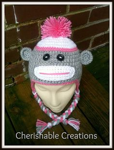 Atlanta falcons football crochet baby sock monkey hat by cdbstudio sock monkey hat pattern by anastasia eslinger dt1010fo