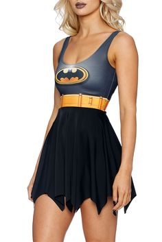 Batman Skater Dress (AU $95.00) by Black Milk Clothing
