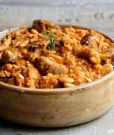 Le cassoulet de Pierre Perret - Famous Last Words Chefs, Le Cassoulet, Brunch, French Food, Tasty Dishes, Soups And Stews, Macaroni And Cheese, Good Food, Food And Drink