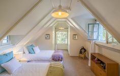 This fun and functional kids space offers a beamed arched ceiling, windows to provide natural lighting and a great area for either  a playroom or bedroom. 1901 Weepah Way   Laurel Canyon
