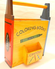 Vintage Childrens Coloring Book And Crayon Caddy By Ardencourt 1600
