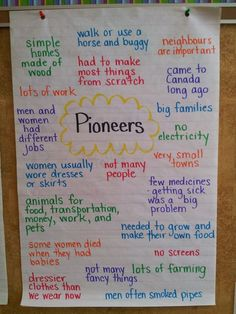 Mrs. Bacchus' Class: Pioneers: Sarah, Plain and Tall