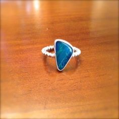 opal and sterling silver ring Sterling Silver Jewelry, Heart Ring, Opal, Handmade Jewelry, Heart Rings, Opals, Diy Jewelry, Handmade Jewellery, Craft Jewelry
