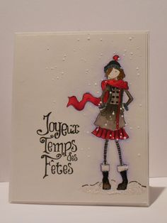 carte de Mimi: Stamping Bella Uptown Girls: Quinn in her Boots