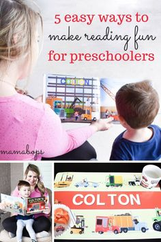 5 Easy Ways to Make Reading Fun for Preschoolers! Making reading fun for preschoolers can be challenging, but these tips will help you to make storytime fun and keep reading from becoming a chore. Plus, enter to win a free personalized book from I See Me! Books for your kids!