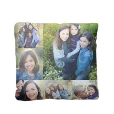 Collage Gallery Pillow, Sherpa, Pillow (Sherpa), 16 x 16, Single-sided, White
