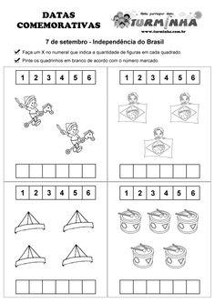 Atividade para educação infantil - Atividade contando os objetos - Semana da Pátria