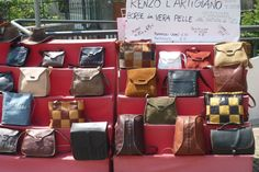 Italy is so famous for its handmade products, thanks to the passion of its craftsmen. Here some pictures after having joined a fair of local crafts in LASNIGO (province of Como). #bags http:www.indulgeinitaly.com