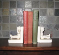Vintage Pottery Baby Bookends Made in by RiverHouseArtPottery, $26.00