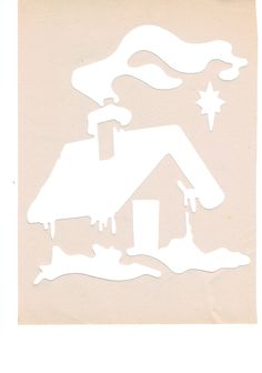 house - useable as stencil or spray template