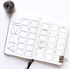 20 Monthly Spread Layouts for your Bullet Journal - Ideas and Inspiration — Square Lime Designs