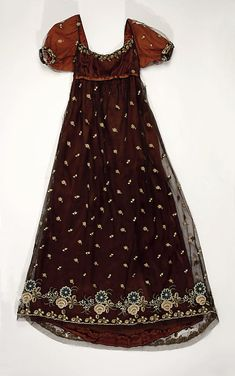 French Silk Evening Dress, circa 1805-10