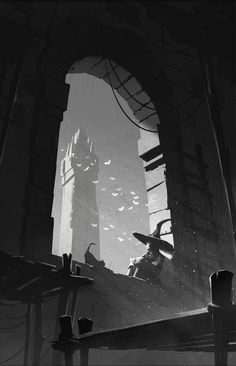 The Art Of Animation — Michael Guimont - . Environment Concept Art, Environment Design, Storyboard, Value Painting, Watercolor Architecture, Landscape Concept, Winter Painting, Aesthetic Drawing, Visual Development