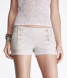 I've bought these shorts twice! So essential in my wardrobe. They can be dressed up for the city or with a bikini top for the beach.