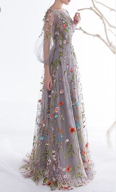 #embroidered #floral #gown