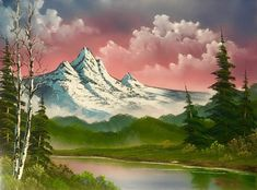 One Of The Only Original Bob Ross Workshops Is In Florida And It's The Happiest Little Place - Narcity Bob Ross Landscape, Landscape Art, Landscape Paintings, Peintures Bob Ross, Bob Ross Episodes, Wet On Wet Painting, Bob Ross Art, Bob Ross Paintings, Beautiful Fantasy Art