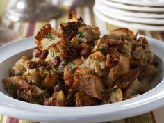 Bring on the delicate figs, smoky pancetta, and omega 3-rich walnuts. This sophisticated stuffing could make your Thanksgiving dinner extra-special.   Get the recipe.