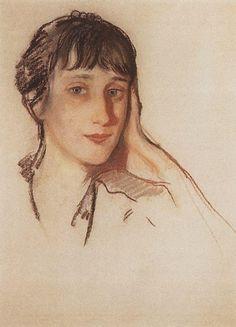 Себербякова Портрет А.А.Ахматовой. 1922
