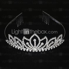 Women's Alloy Headpiece-Wedding Special Occasion Tiaras - USD $3.99 ! HOT Product! A hot product at an incredible low price is now on sale! Come check it out along with other items like this. Get great discounts, earn Rewards and much more each time you shop with us!